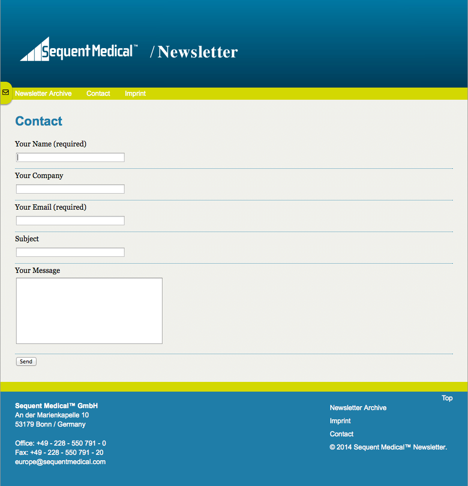 Sequent-Medical-Contact-Newsletter-Form