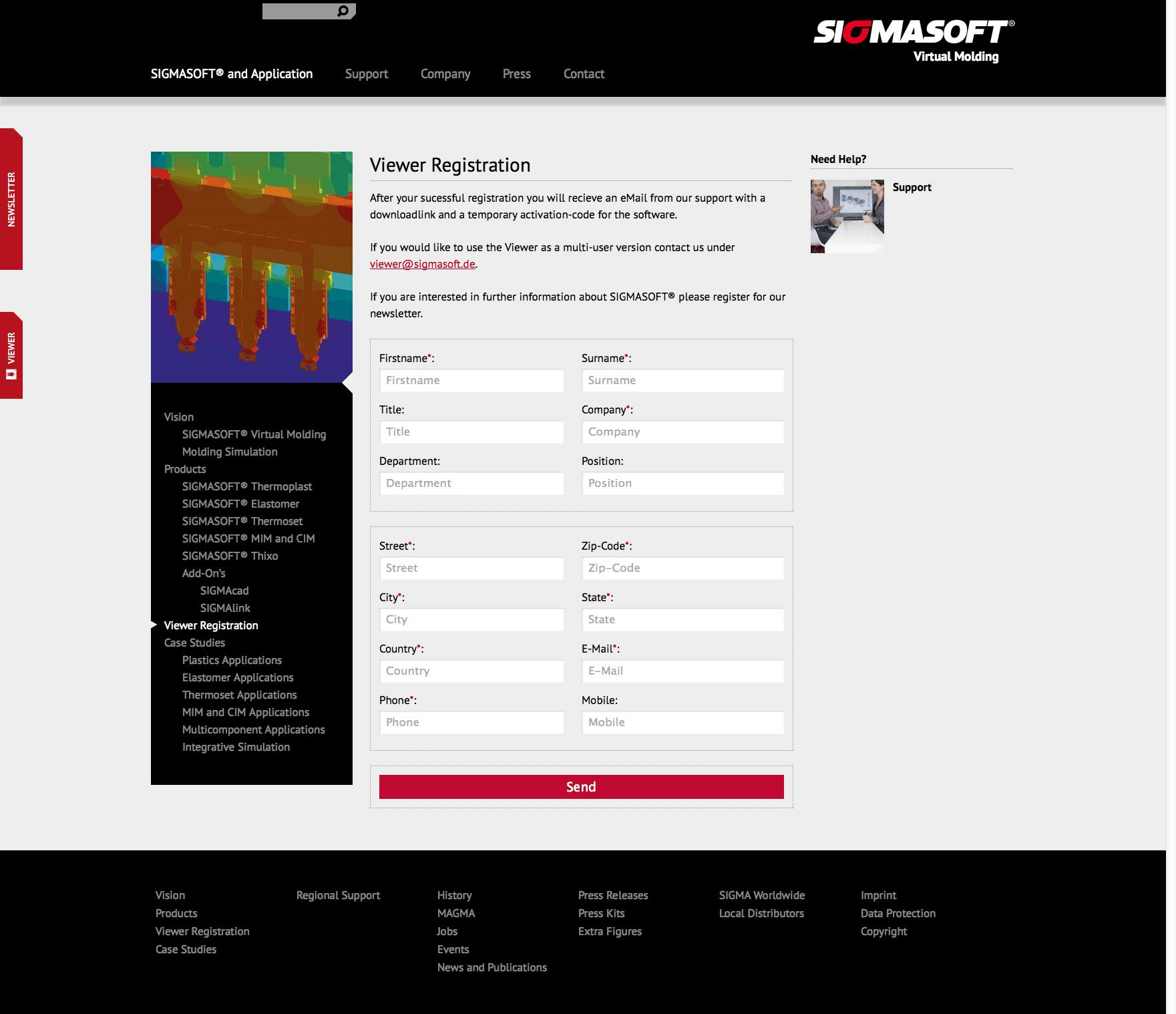 Viewer Registration - SigmaSoft