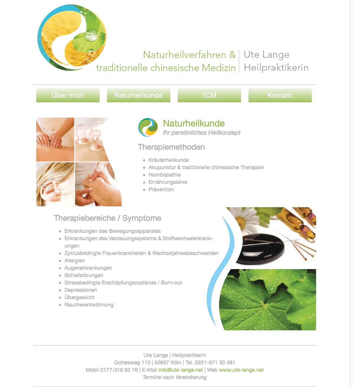 Ute Lange 2-naturheilkunde-webseite