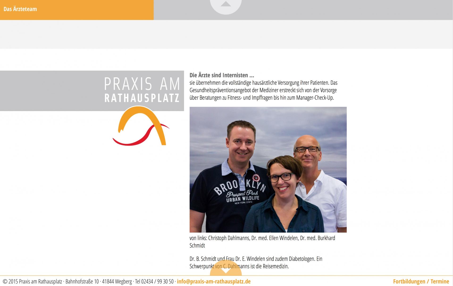 Responsives Webdesign für die Praxis am Rathausplatz